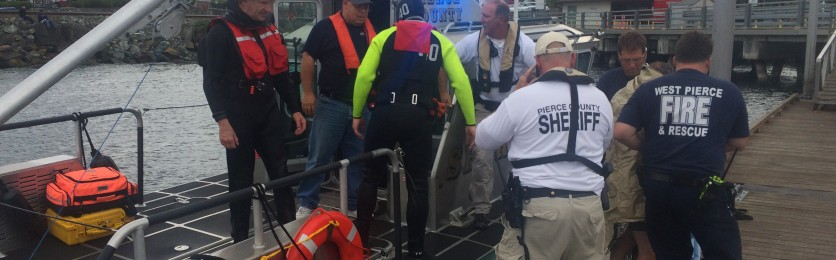 Water Rescue on Puget Sound August 2015