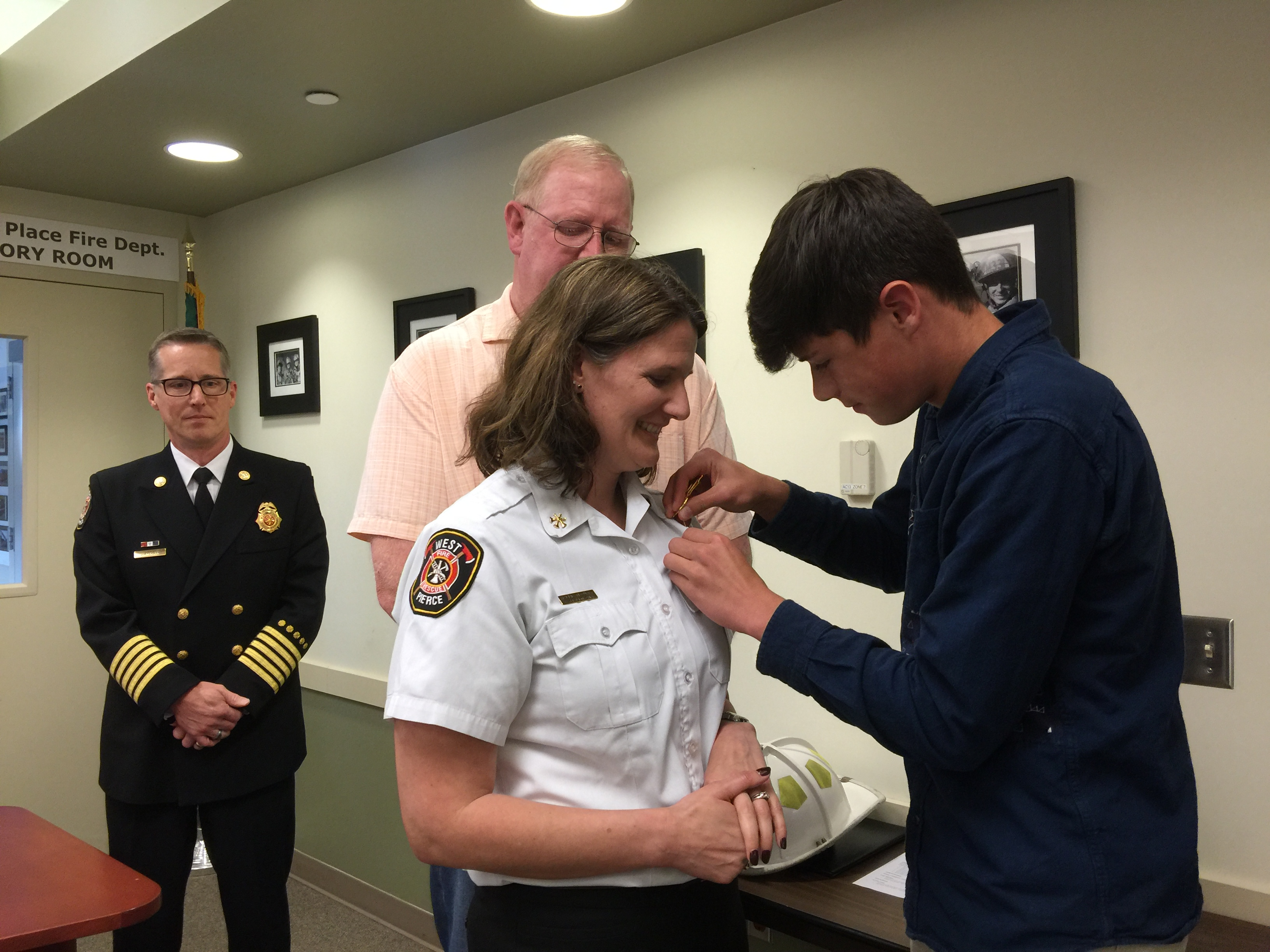 Citizen Life Safety Award, New Assistant Chief, and EMS Week